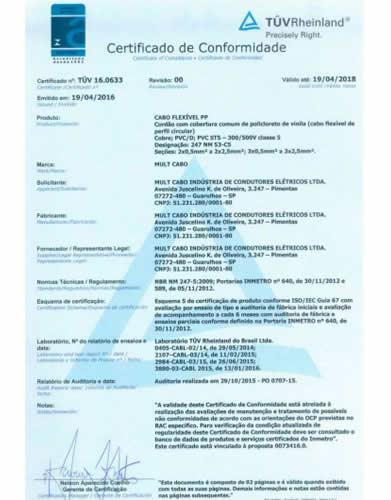 Certificado Mult Cabo